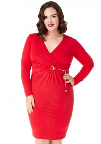Φόρεμα μίντι κόκκινο