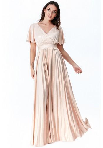 Φόρεμα maxi μεταλλιζέ