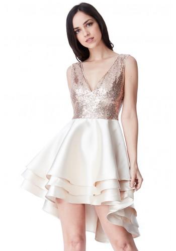 Ασύμμετρο Φόρεμα με παγιέτες