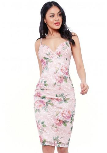 Φόρεμα φλοράλ δαντελένιο