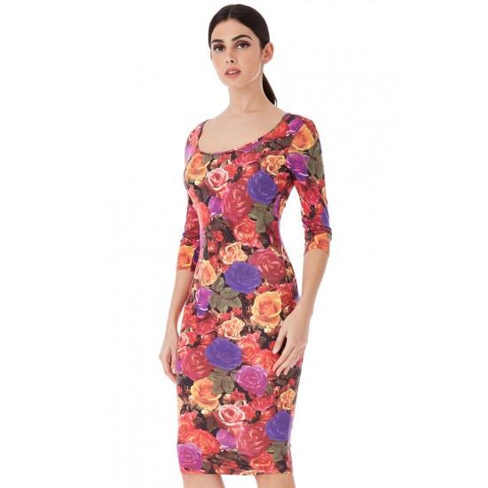 Φλοράλ καθημερινό φόρεμα