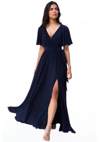 Φόρεμα μάξι με άνοιγμα στο πόδι