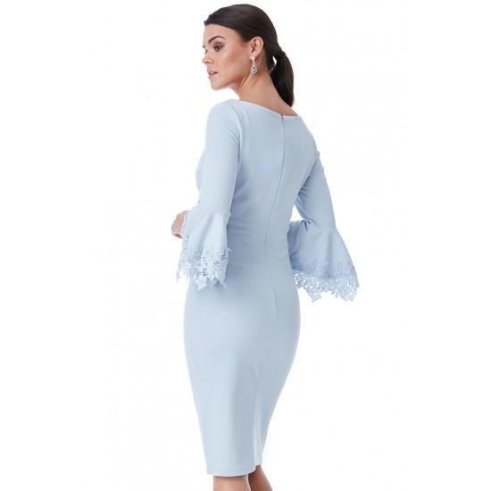 Φόρεμα midi γαλάζιο
