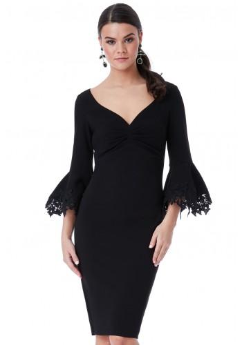 Φόρεμα μίντι με δαντέλα