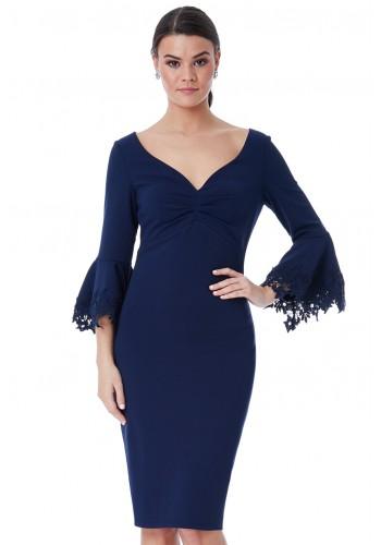 Φόρεμα midi μπλε ναυτικό