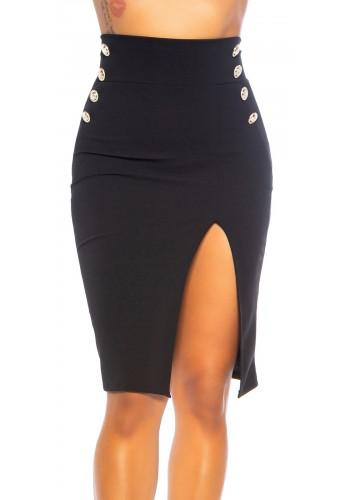 Ψηλόμεση midi φούστα με άνοιγμα