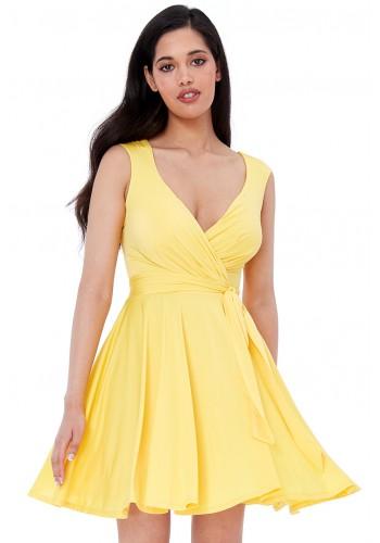 Φόρεμα σε άλφα γραμμή με ζώνη
