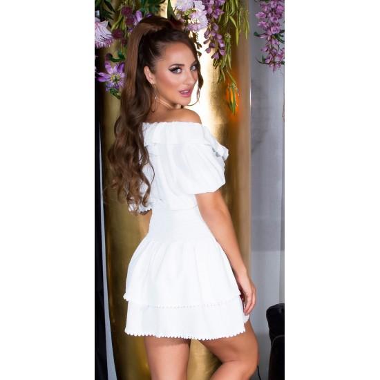 Μοντέρνο Φόρεμα με βολάν