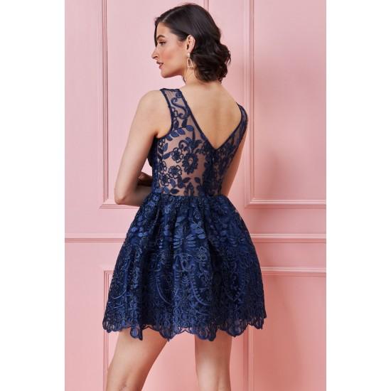 Φόρεμα κοκτέιλ με κεντητή δαντέλα