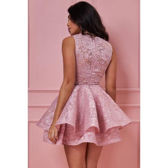 Φόρεμα κλος με δαντέλα