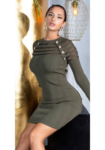 Πλεκτό καθημερινό φόρεμα