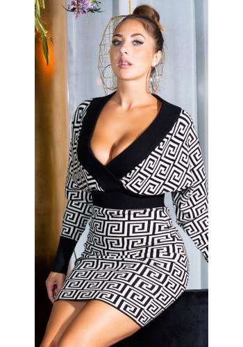 Πλεκτό κρουαζέ φόρεμα