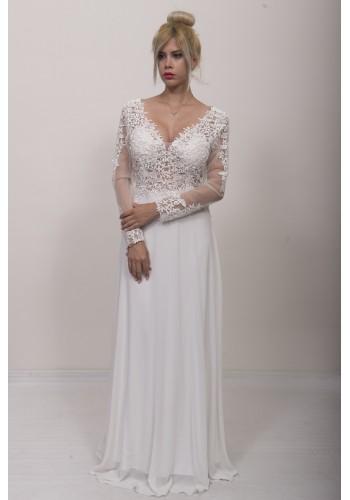 Νυφικό φόρεμα με μανίκια