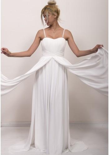 Νυφικό φόρεμα με 4 λωρίδες