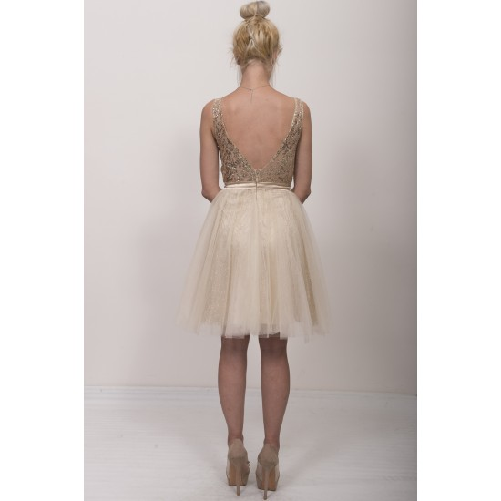 Φόρεμα κοντό με glitter
